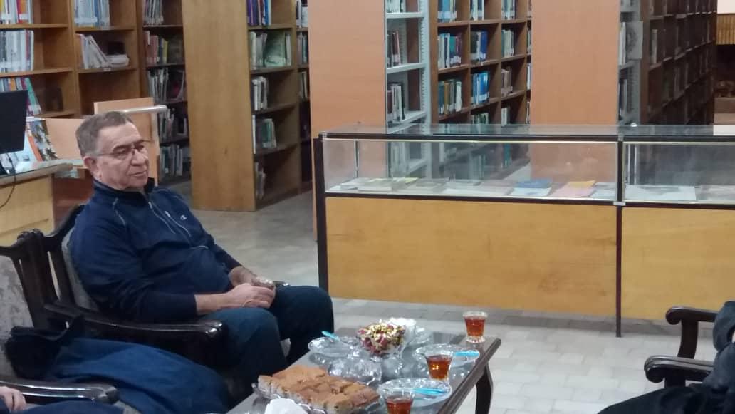 حضور مهندس ناوی در جلسه هم اندیشی بازسازی کتابخانه عمومی سرهنگ فرامرز ناوی