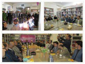 بازدید  امام جمعه ، فرماندار، شهردار، رئیس و اعضای شورای شهر بهمراه مسئولین شهر از کتابخانه های سطح شهر